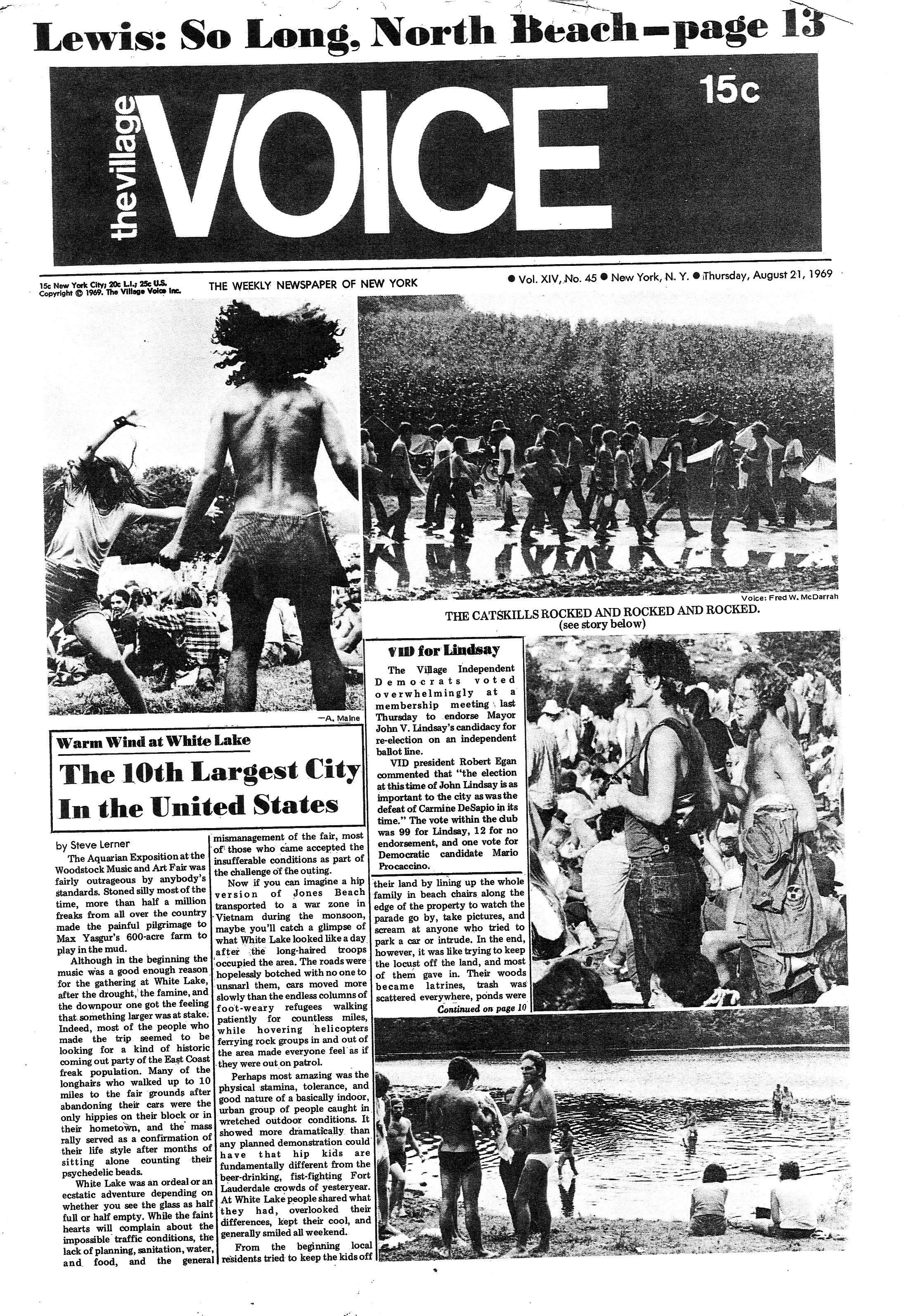 The Village VOICE - August 21 1969